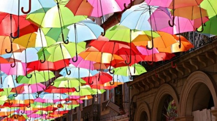 Public Art: Floating Umbrellas