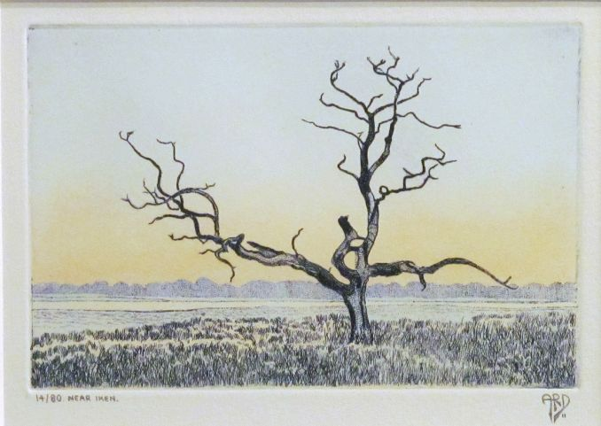 Near Iken Ed.14/80 | Etching with hand colouring | 4'' x 6''
