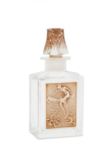 c1910 R. Lalique for Coty L'Effleurt, clear glass perfume bottle