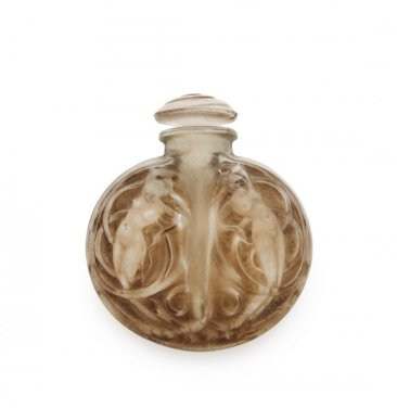 "1912 R. Lalique for Maison Lalique, ""Naiades,"" purse perfume bottle"