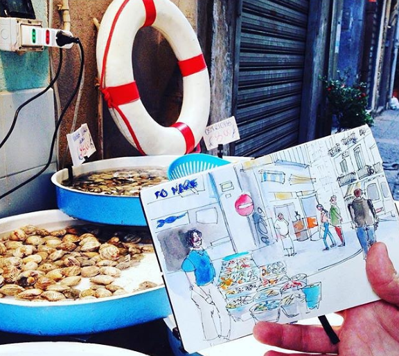 urbansketchers-fish-market